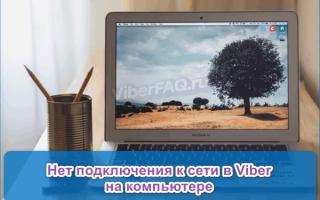 Нет подключения к интернету в Viber на компьютере