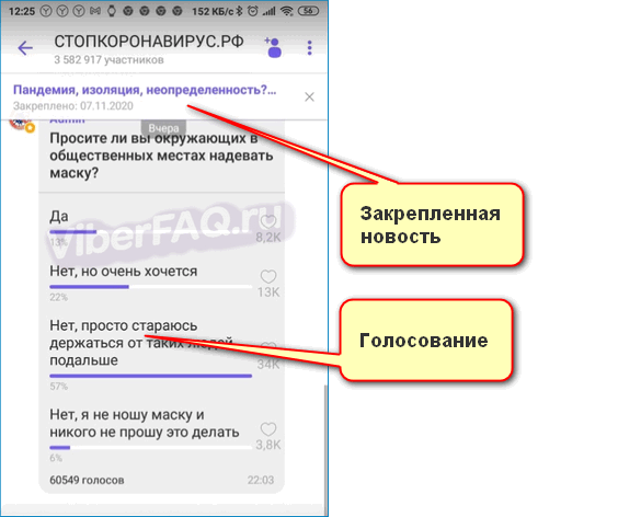 Интерфейс стопкоронавирус Вибер